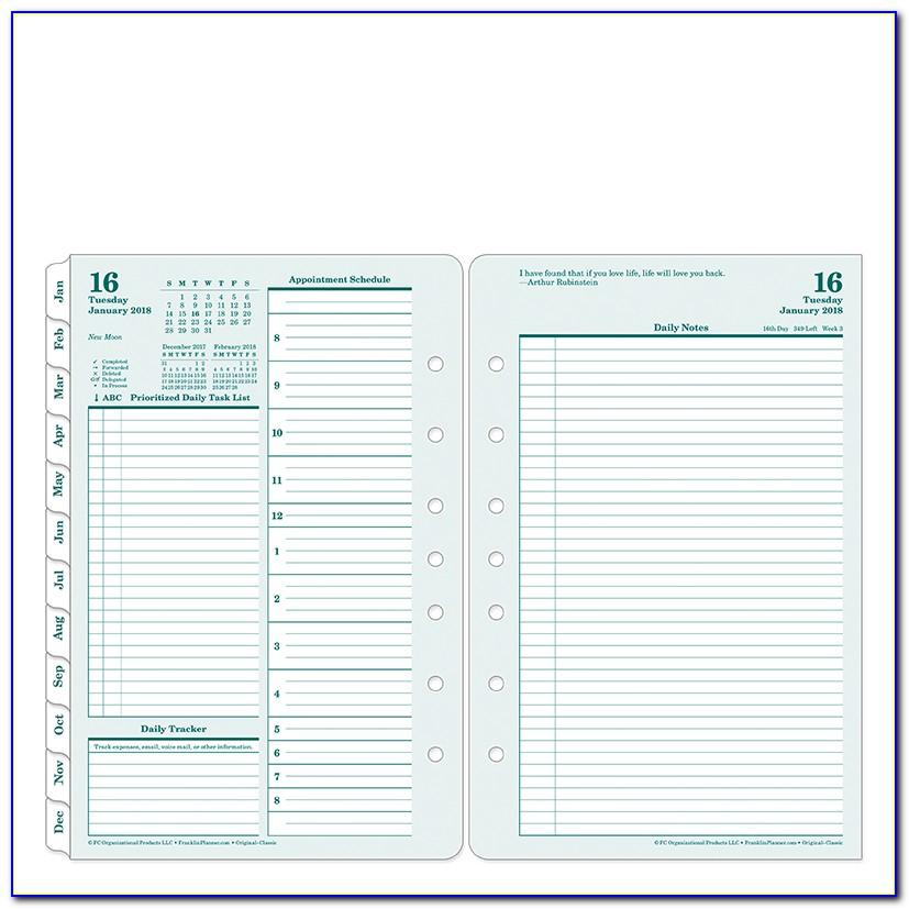 Franklin Covey Planner Templates Free