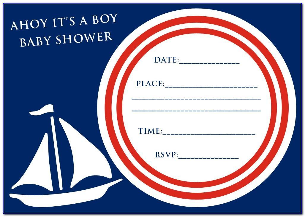 Free Ahoy Its A Boy Invitation Template