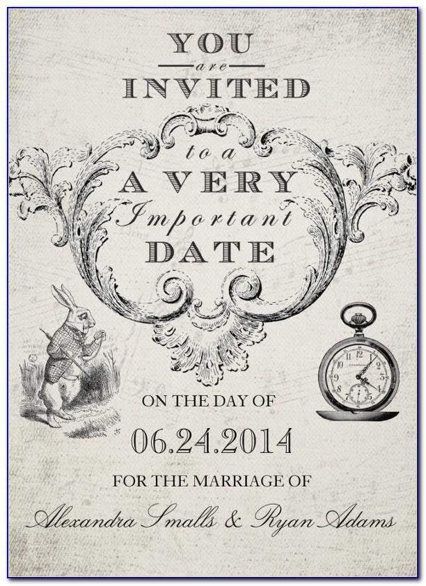Free Alice In Wonderland Birthday Invitations Templates