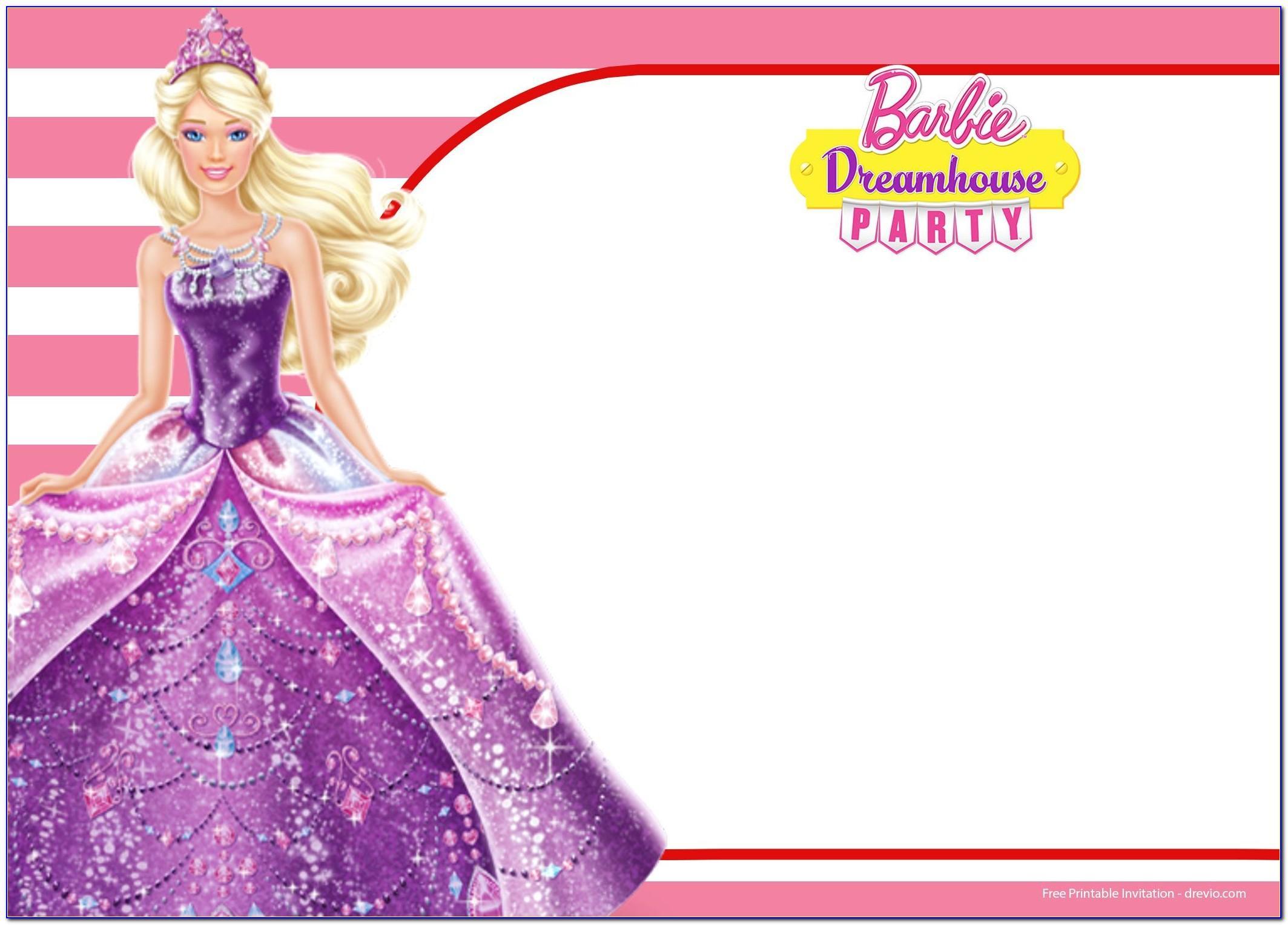 Free Barbie Invitation Card Maker