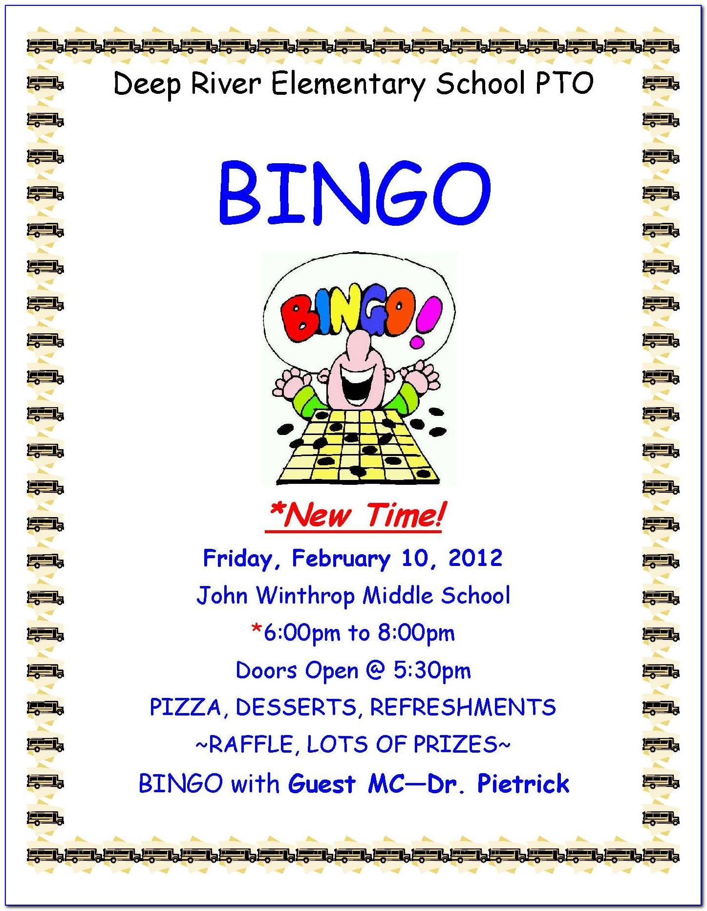 Free Bingo Invitation Template