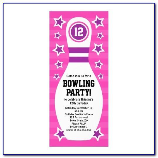 Free Bowling Birthday Party Invitation Templates