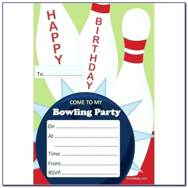Free Bowling Party Invitation Template Word