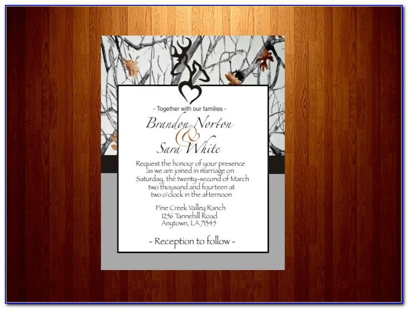 Free Camo Invitation Templates