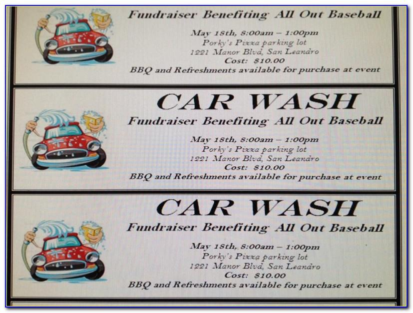 Free Car Wash Ticket Template