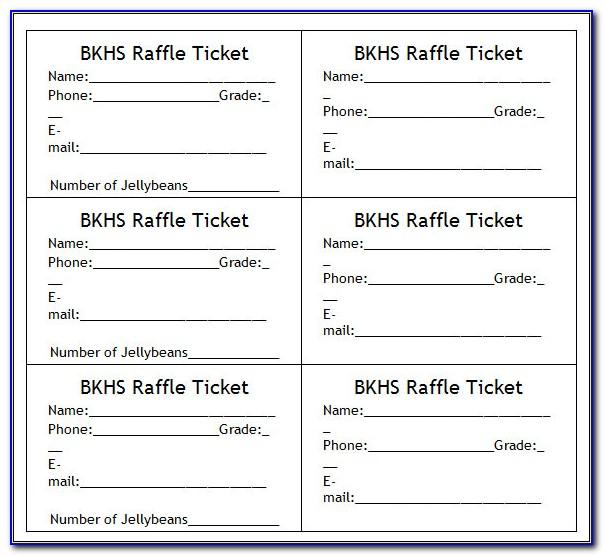 Free Carnival Ticket Template Printable
