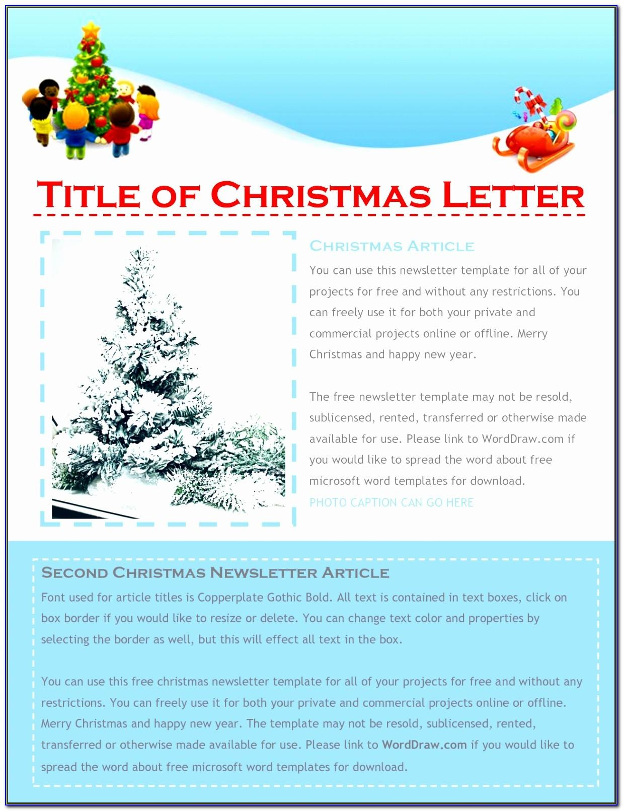 Free Christmas Newsletter Templates Word