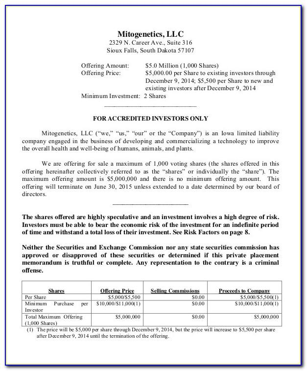 Free Commercial Real Estate Offering Memorandum Template