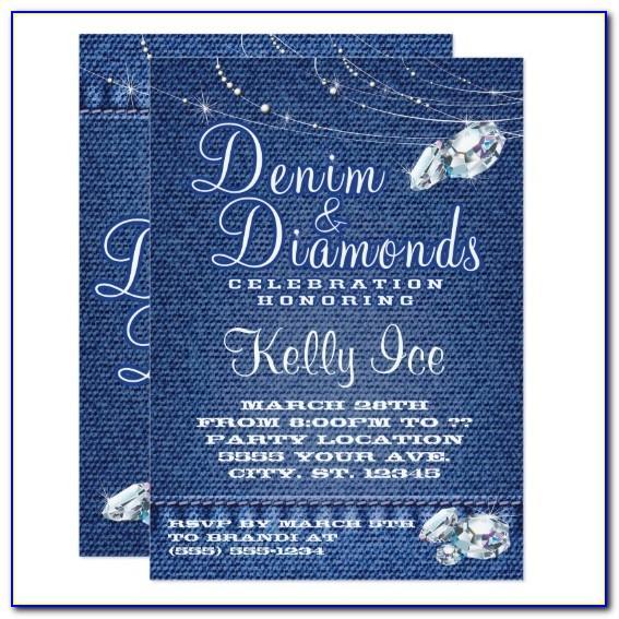 Free Denim And White Invitation Templates