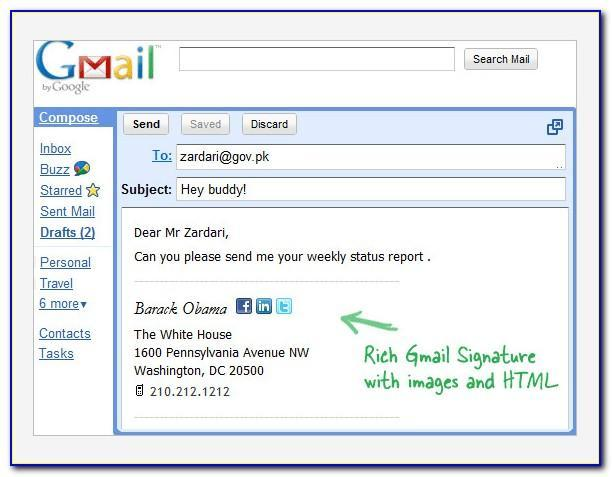 Free Email Signature Templates Gmail