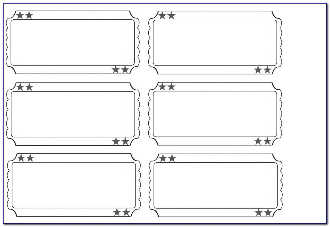 Free Event Ticket Template Printable