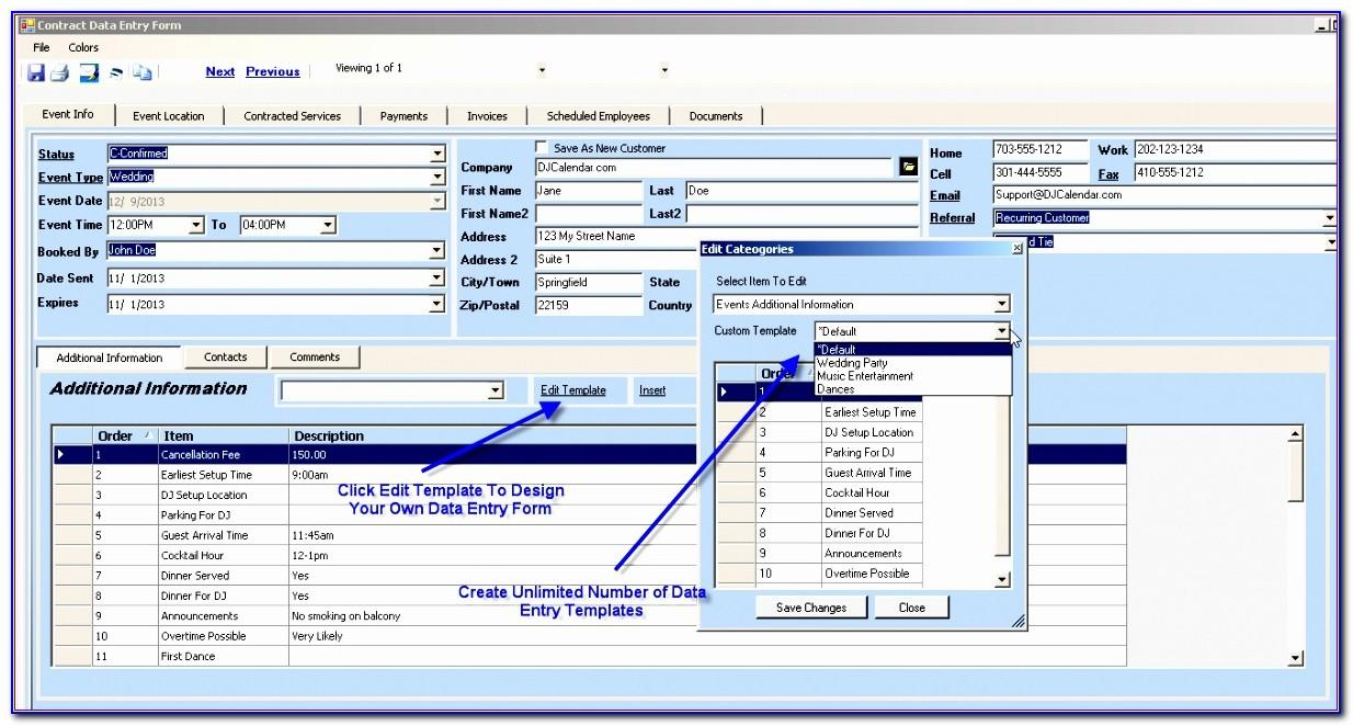 Free Excel Employee Database Template