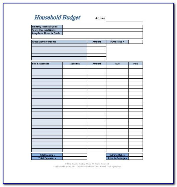 Free Excel Personal Budget Template Download