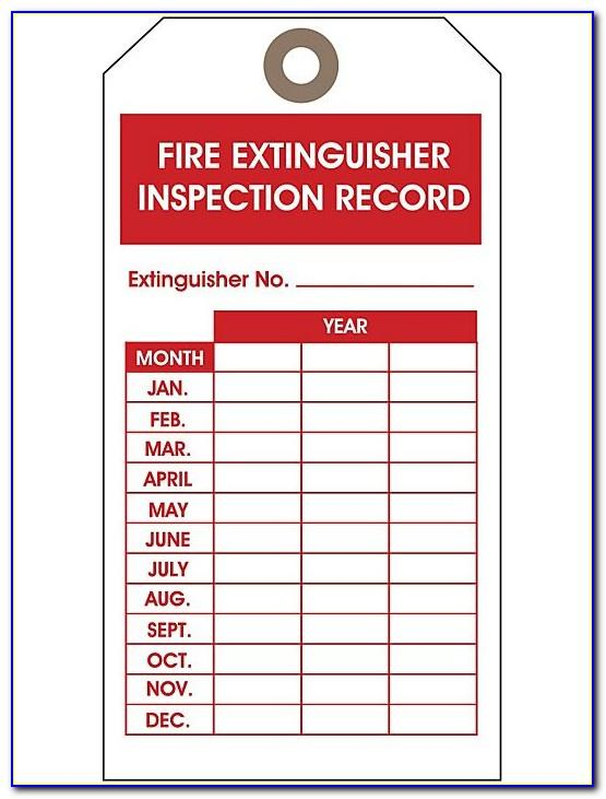 Free Fire Extinguisher Inspection Tags Template