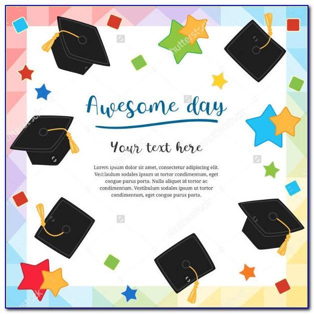 Free Graduation Greeting Card Template