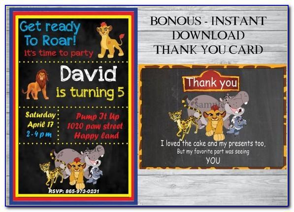 Free Lion Guard Birthday Invitation Template