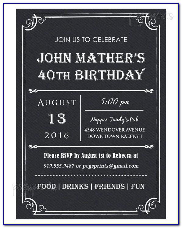 Free Mens Birthday Invitation Templates