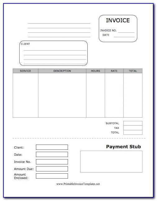 Free Pay Stub Printable
