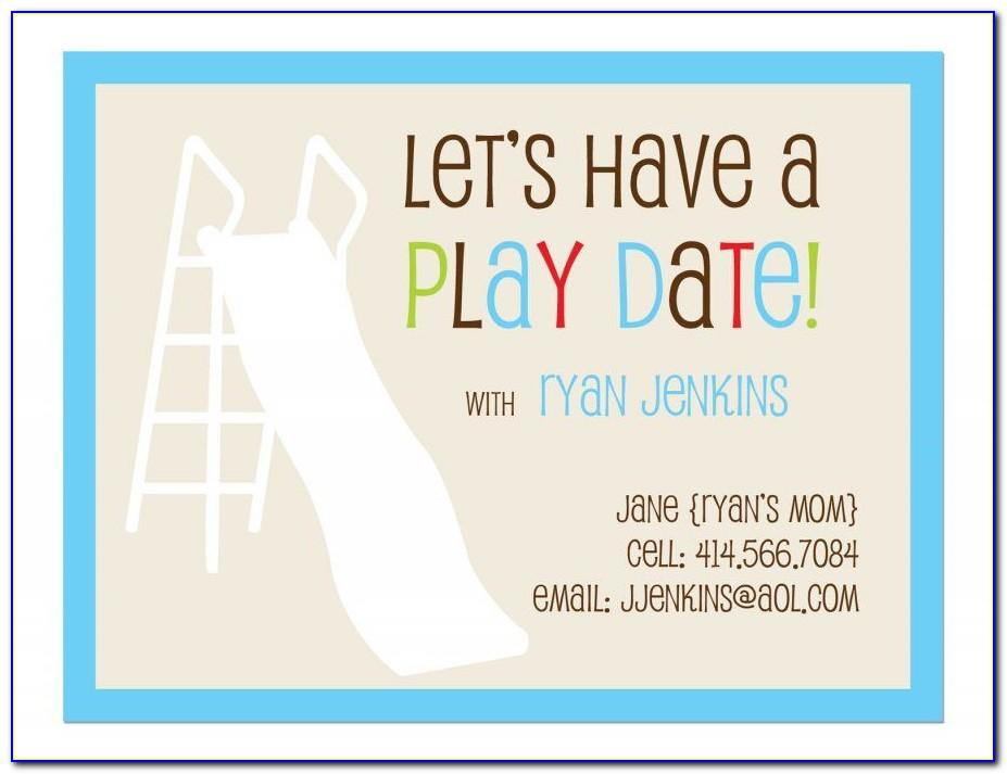 Free Playdate Invitation Template