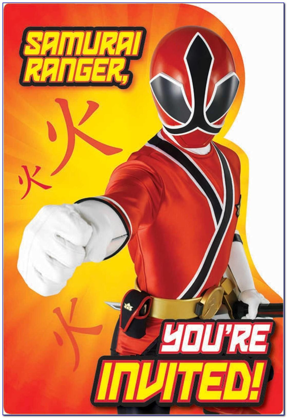 Free Power Rangers Birthday Invitation Template