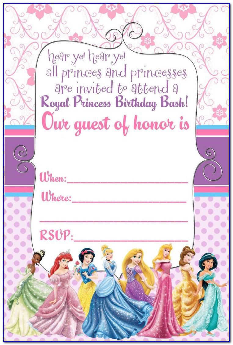 Free Princess Belle Invitation Template