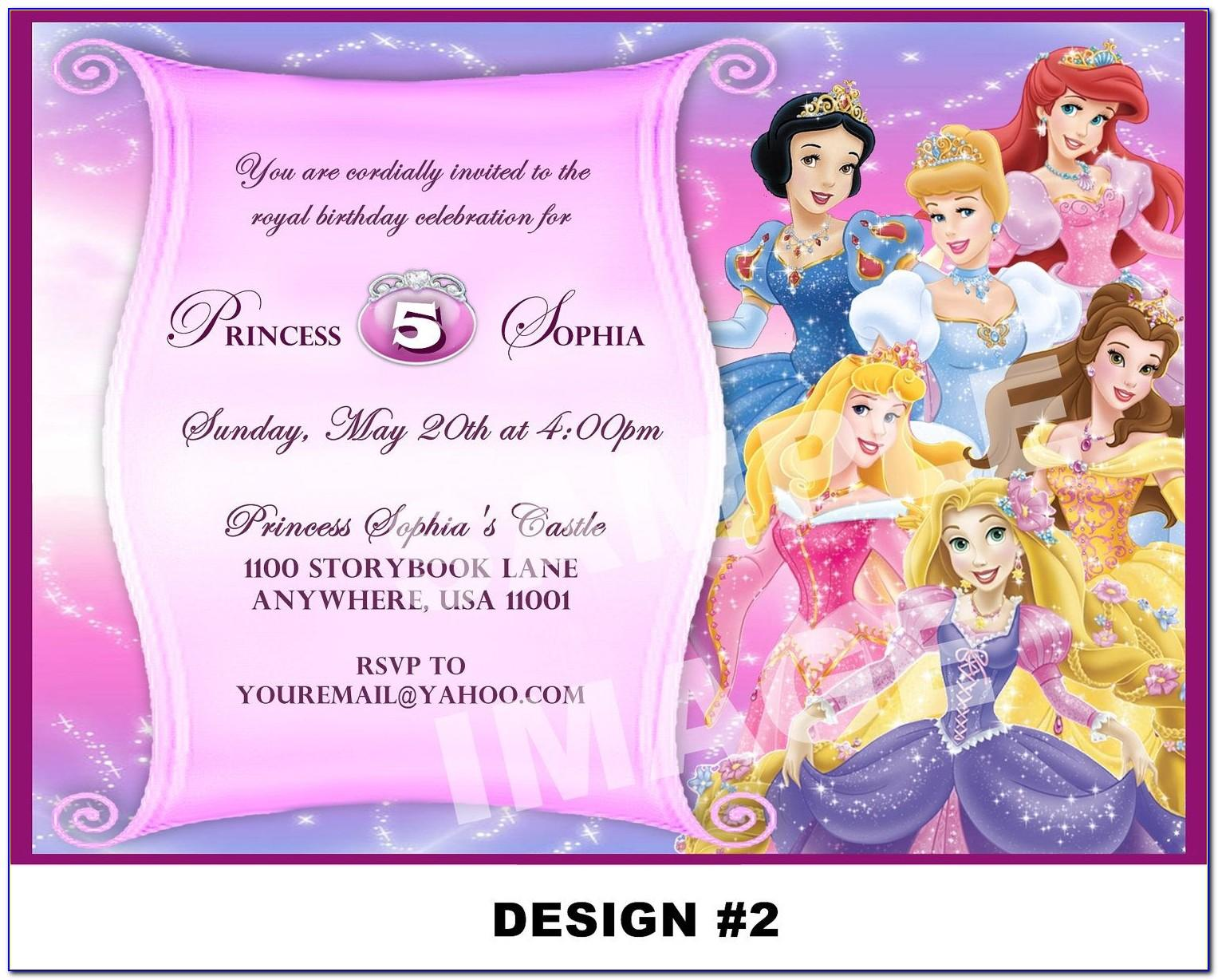 Free Princess Birthday Invitation Template