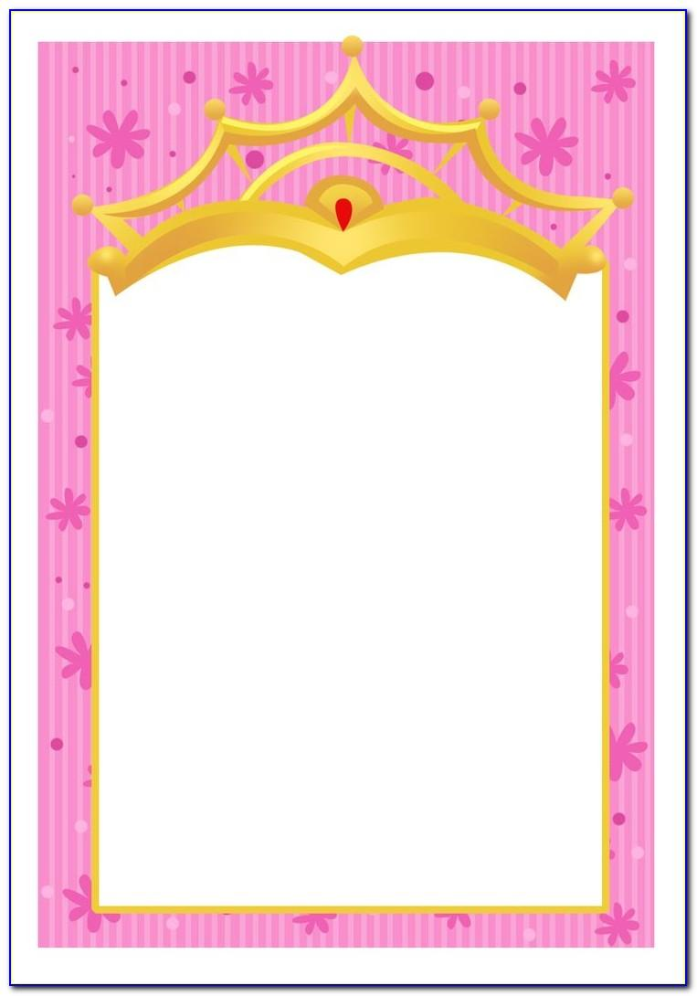 Free Princess Tiana Invitation Template
