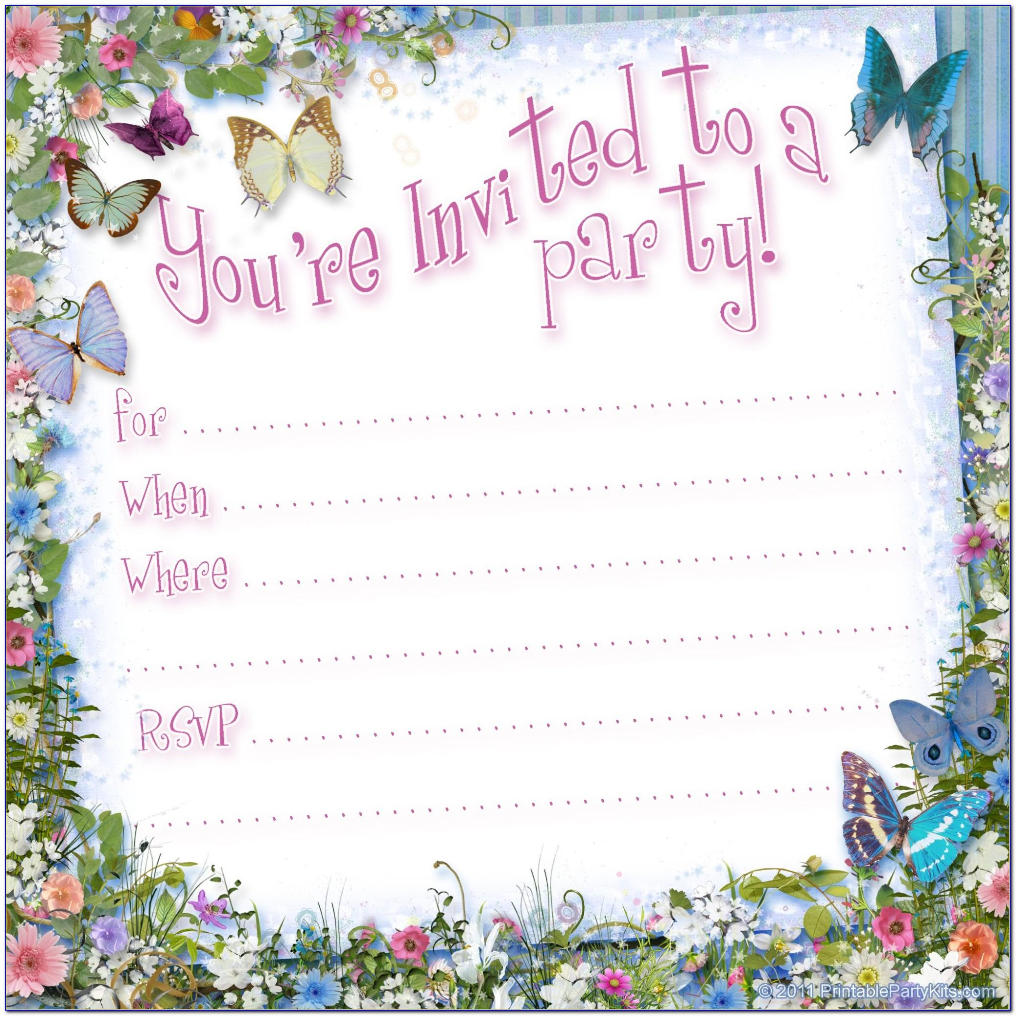 Free Printable Birthday Pool Party Invitation Templates