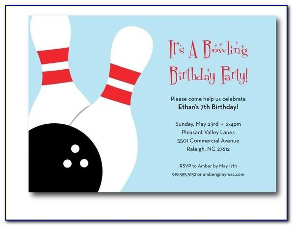 Free Printable Bowling Birthday Party Invitation Templates