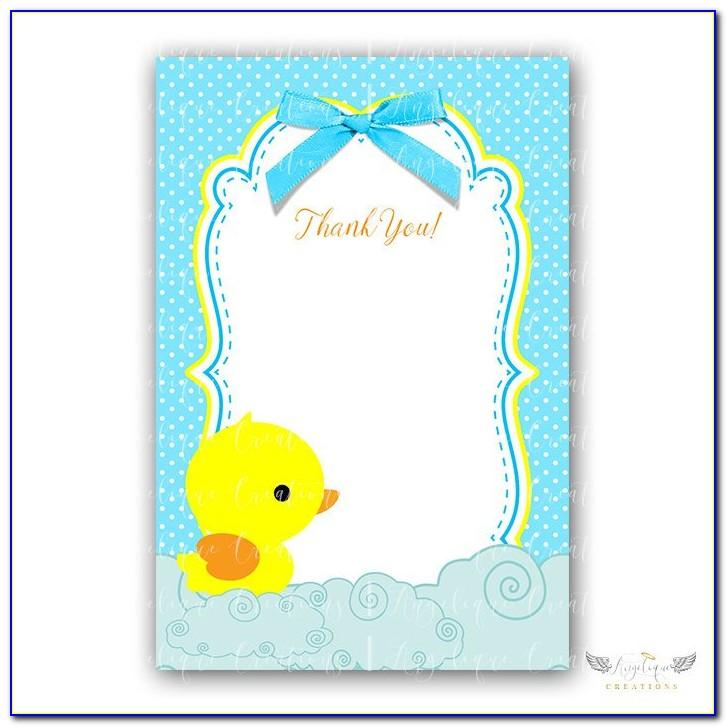 Free Printable Rubber Ducky Baby Shower Invitations