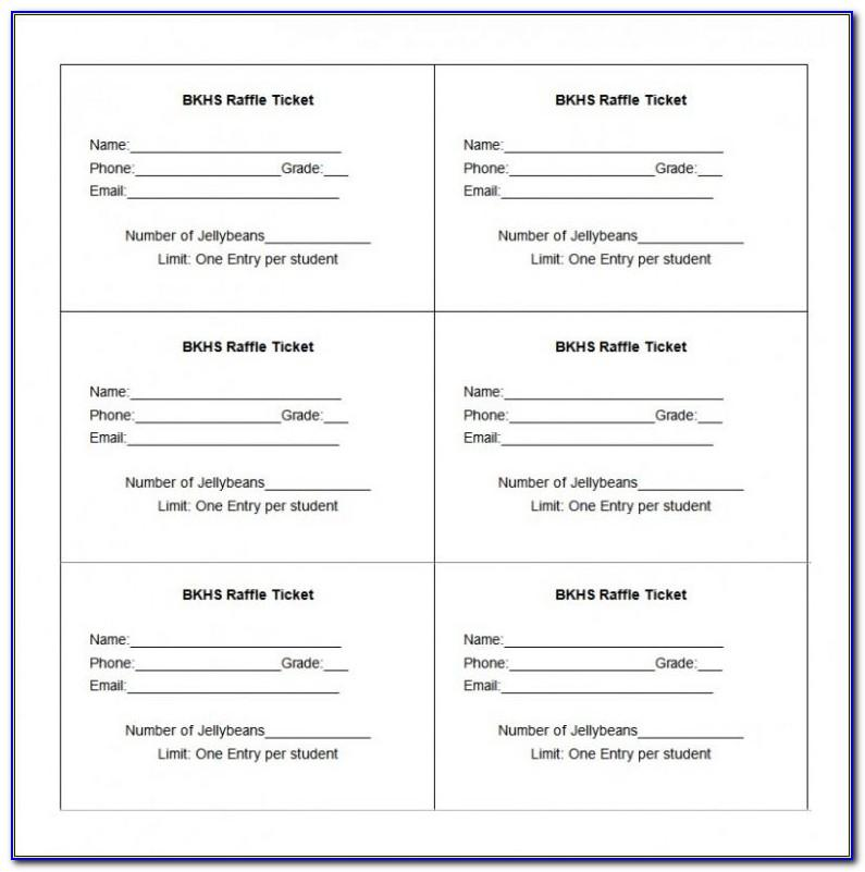 Free Raffle Ticket Template Printable