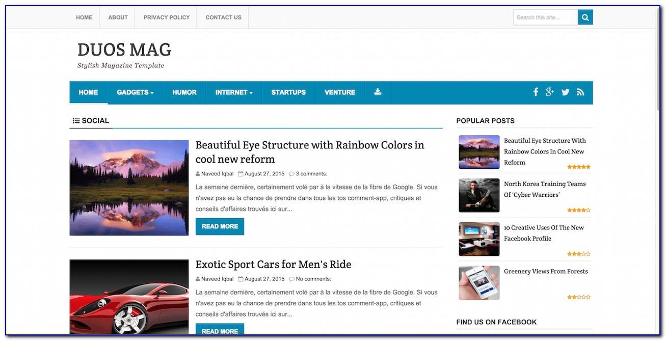 Free Responsive Blog Website Templates Download
