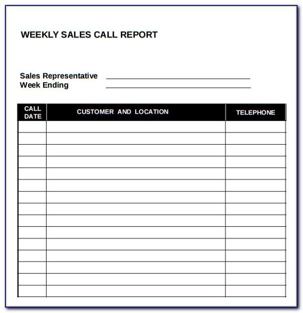 Free Sales Call Report Template Microsoft Word