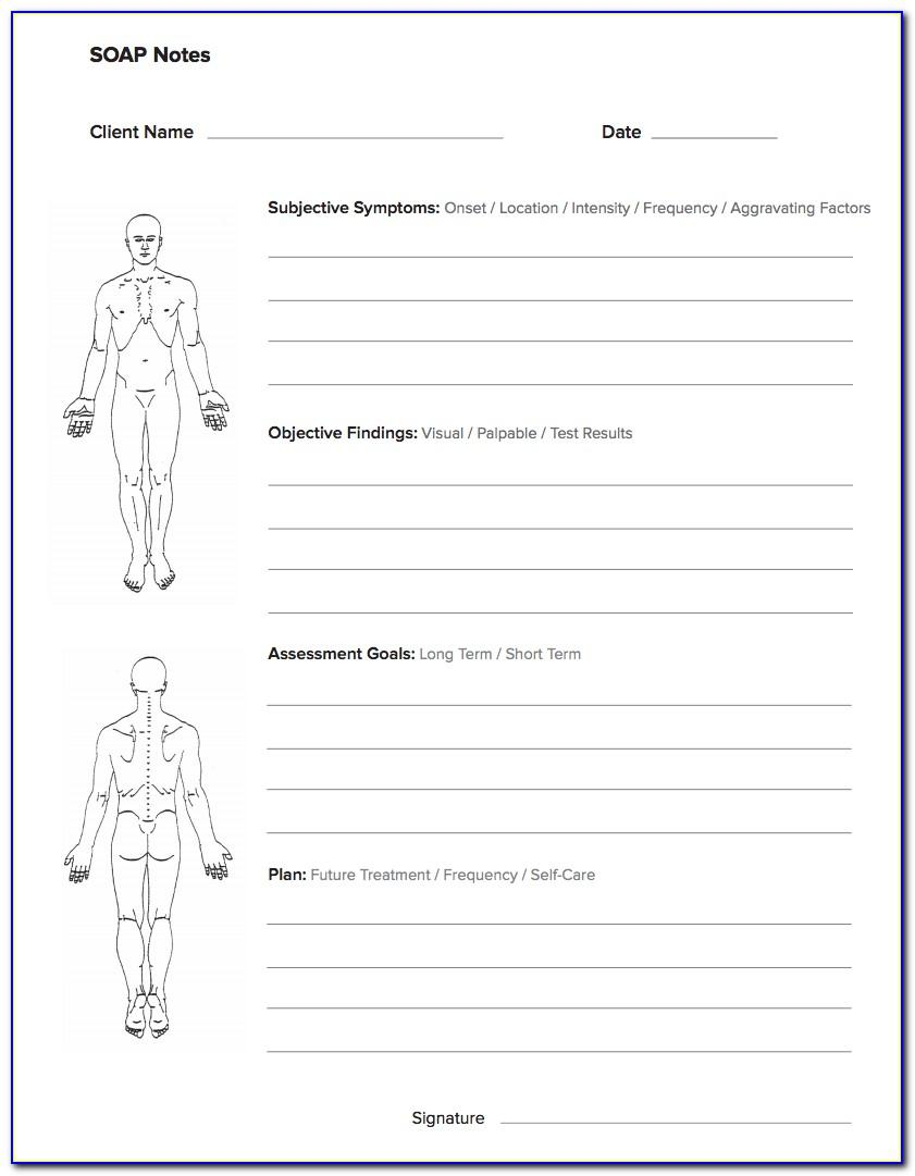 Free Soap Notes For Massage Therapy Templates