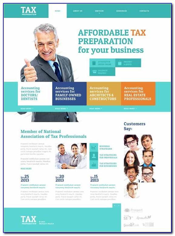 Free Tax Preparation Website Templates