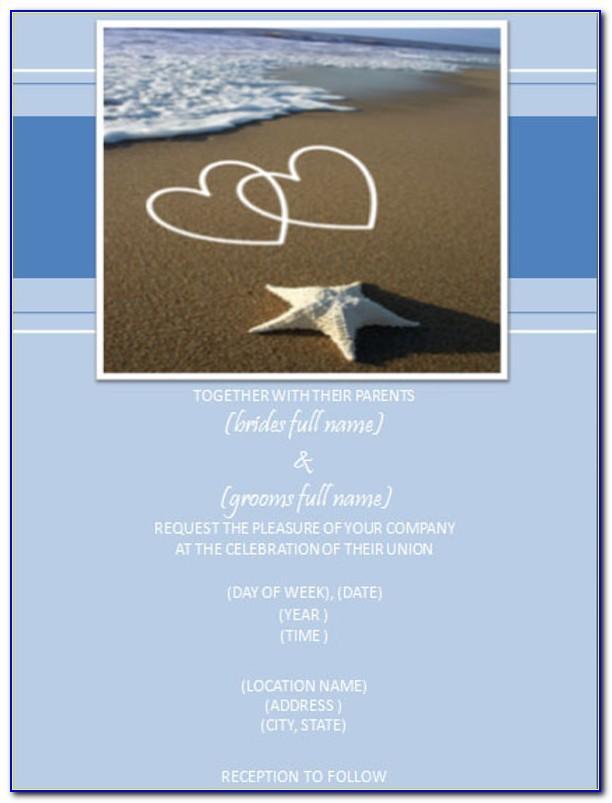 Free Wedding Invitation Templates Beach Theme