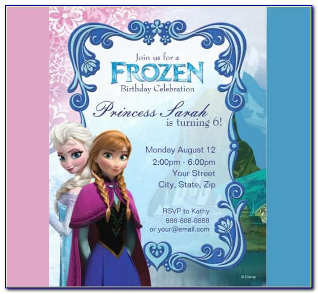 Frozen Birthday Invitations Templates Blank