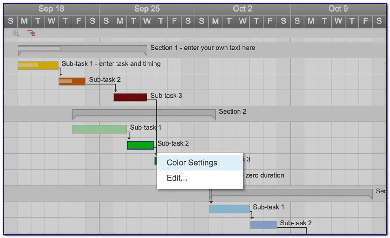 Gantt Chart Project Timeline Template Excel