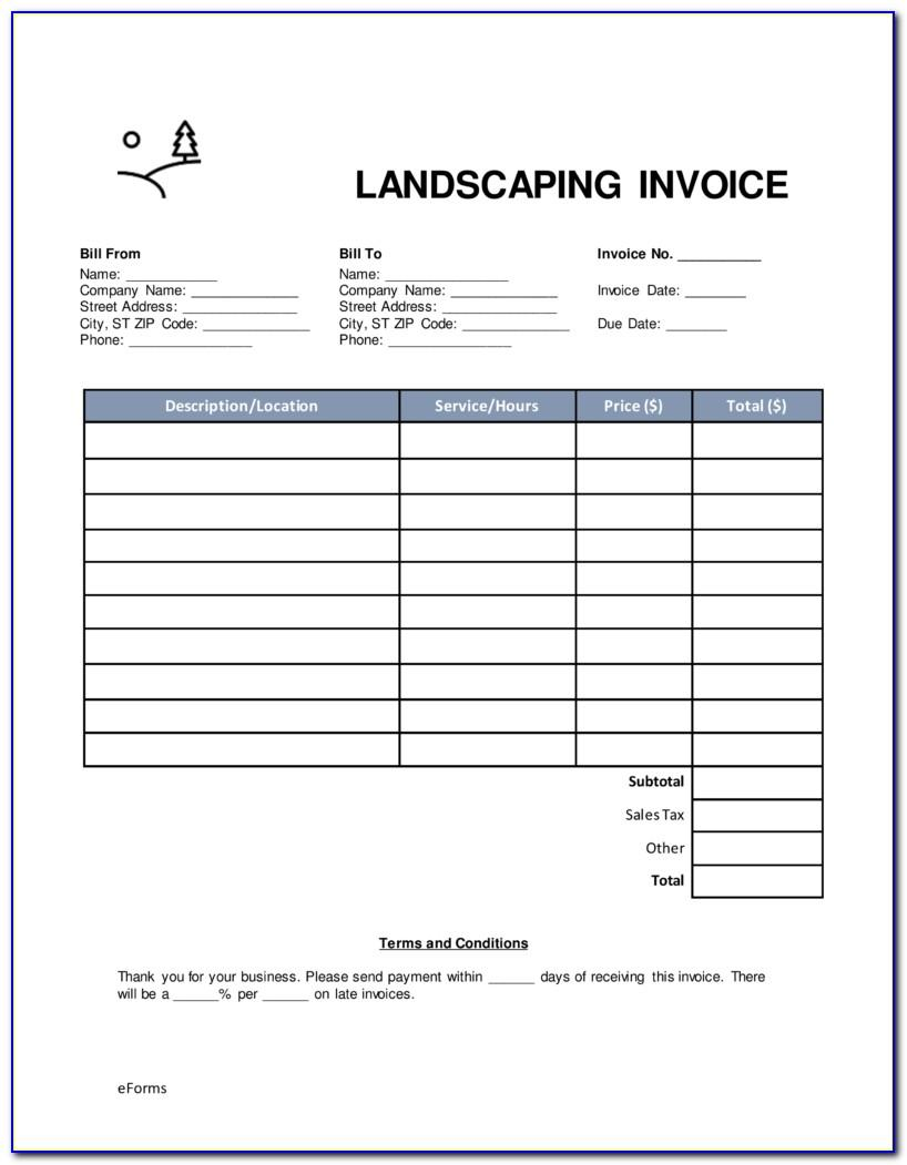 Gardening Invoice Template Free