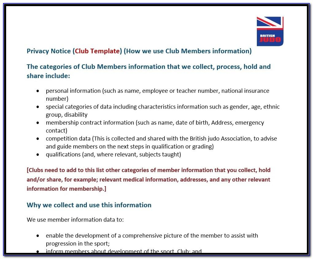 Gdpr Breach Notification Template Ico
