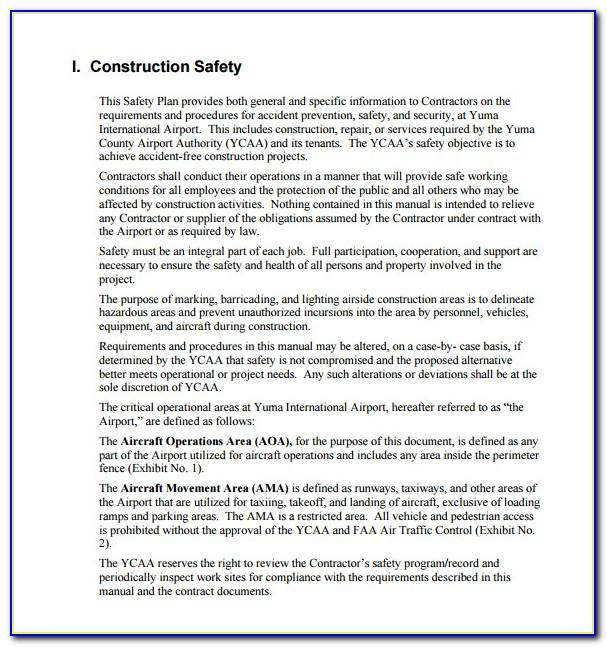 General Contractor Safety Program Template