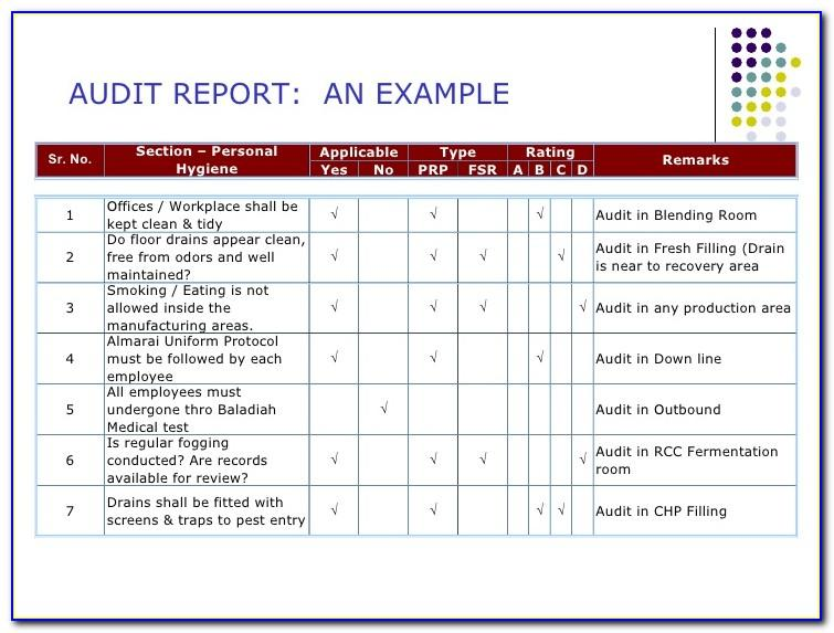 Gmp Audit Plan Template