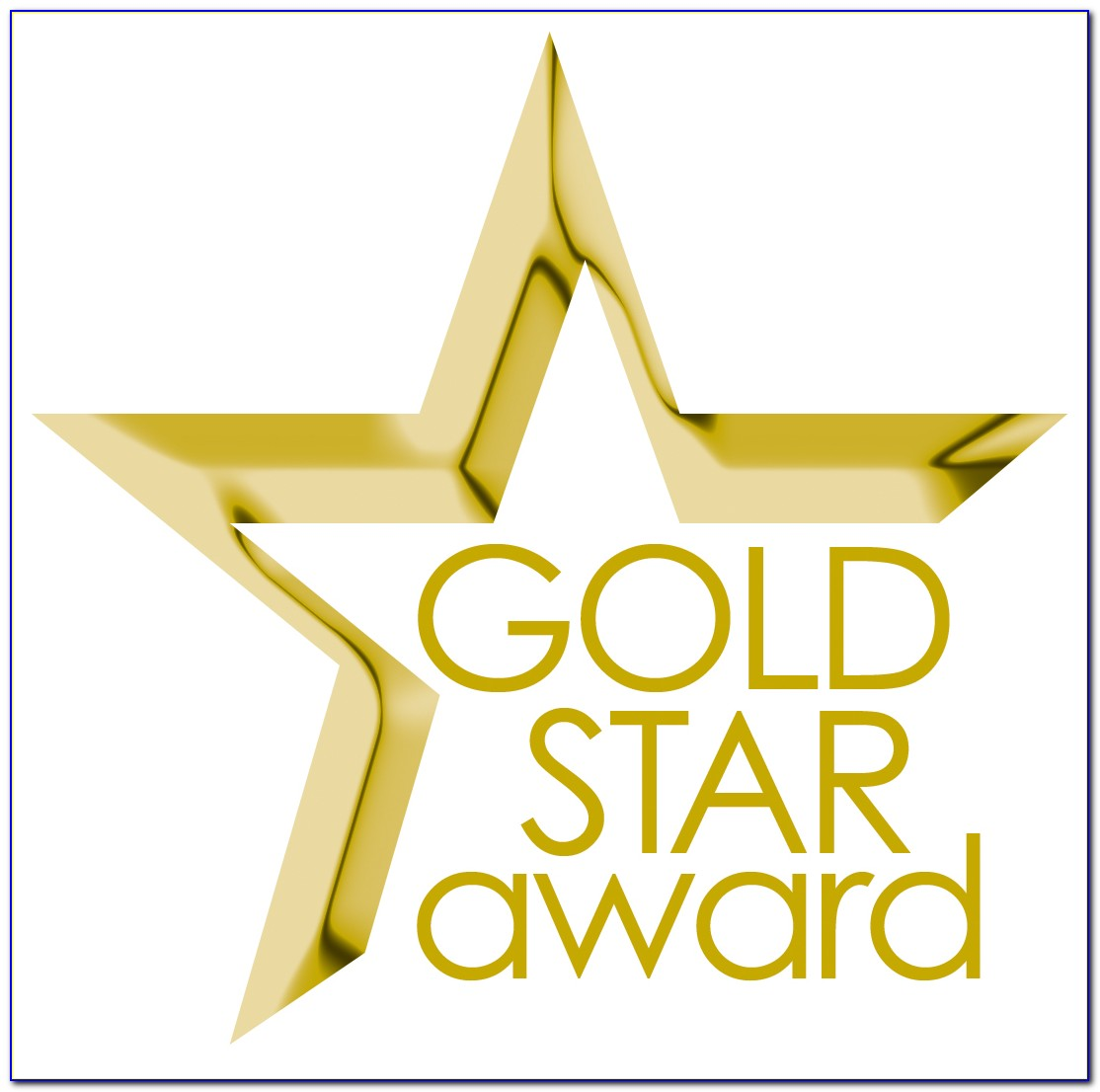 Gold Star Award Certificate Template