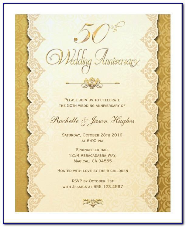 Golden Wedding Anniversary Templates
