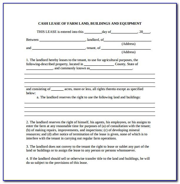Ground Lease Agreement Template