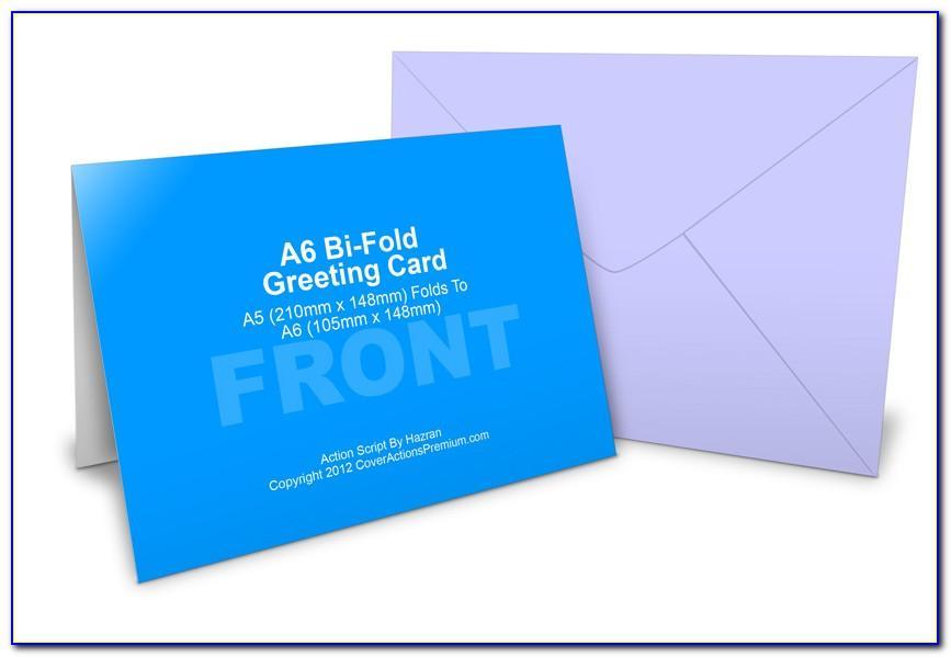 Half Fold Greeting Card Template Word