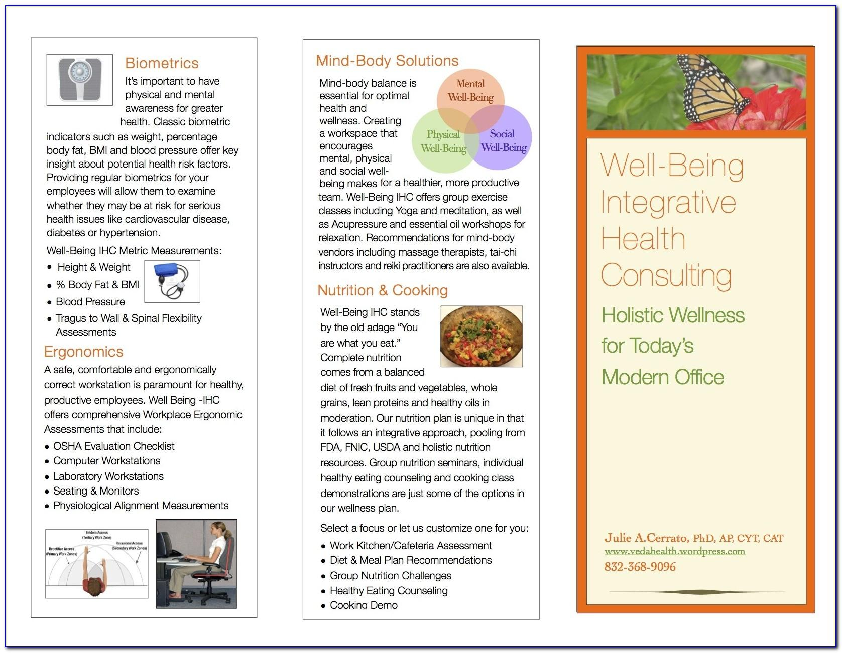 Health Coach Brochure Templates