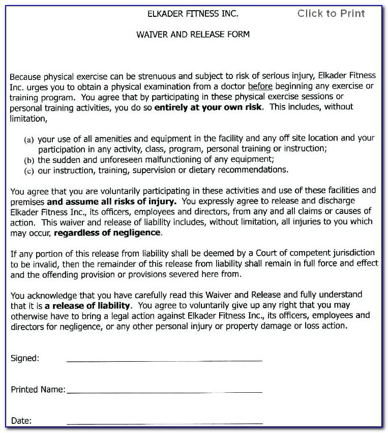 Health Insurance Waiver Template