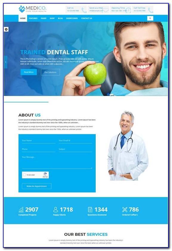 Healthcare Website Templates Free Download