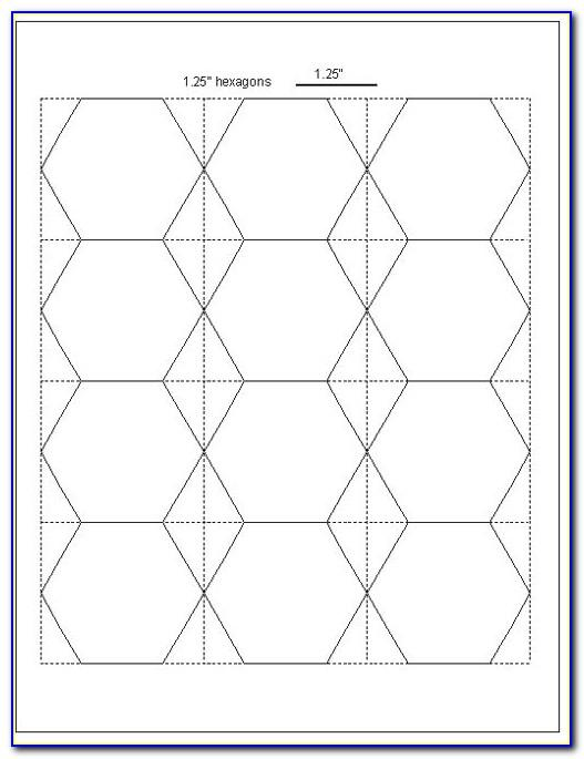 Hexagon Template Quilting